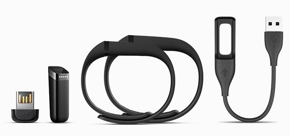 Le bracelet FitBit Flex vient avec plusieurs accessoires.